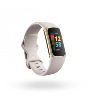 Fitbit Charge 5 Fitness Tracker-Soft Gold/ White