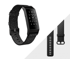 Fitbit Charge 4 Fitness tracker-Granite Reflective / Woven Black