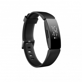 Fitbit Inspire HR, Health & Fitness Tracker with Heart Rate,Black/Black