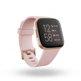 Fitbit Versa 2 (NFC), Health and Fitness Smartwatch with Heart Rate-Petal/copper Rose Aluminum