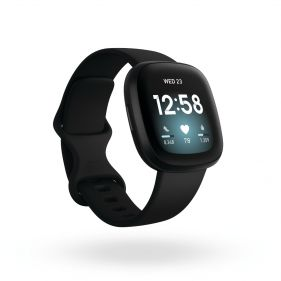 Fitbit Versa 3-Black/Black Aluminum