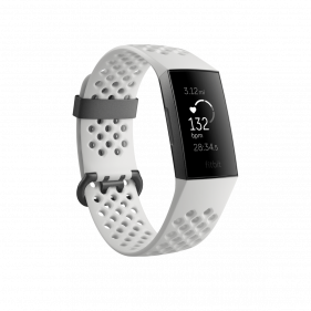 Fitbit Charge 3 Special Edition, Advanced Fitness Tracker with Heart Rate-Graphite/White Silicone