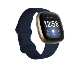 Fitbit Versa 3-Midnight/Soft Gold Aluminum