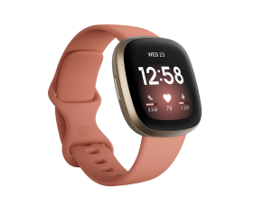Fitbit Versa 3-Pink Clay/Soft Gold Aluminum